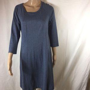 J.JILL GRAY Long Sleeve Career Wear Dress-Small